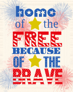 4th of July Printable 240x300