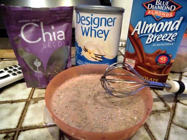 Chia pud mixed