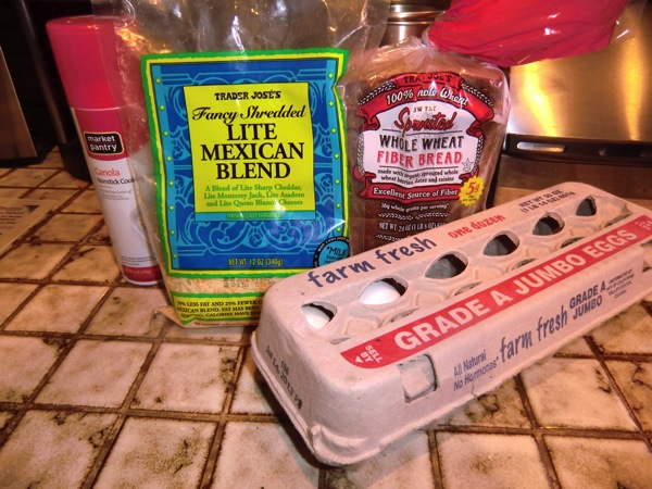 Egg sandwich ingredients