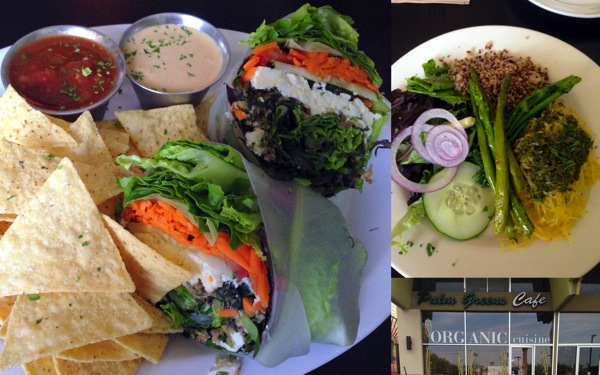 Palm greens cafe collage