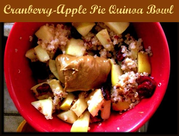 Apple pie quinoa bowl edit