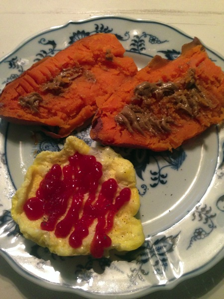 Sweet potato and egg puff BF