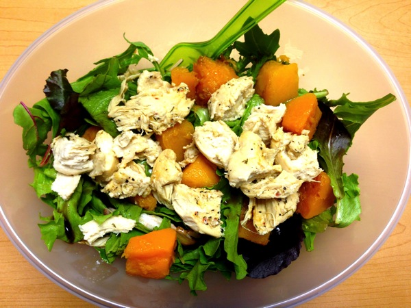 Chicken butternut squash salad
