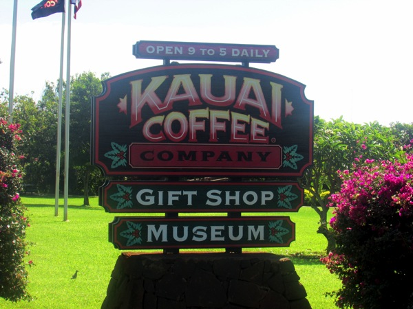 Kauai Coffee Sign