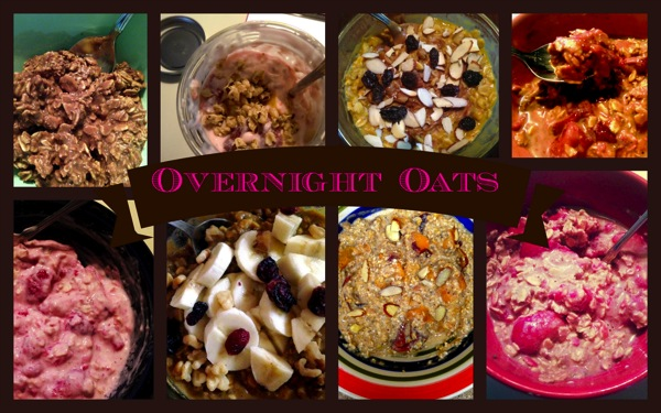 Overnight oats collage