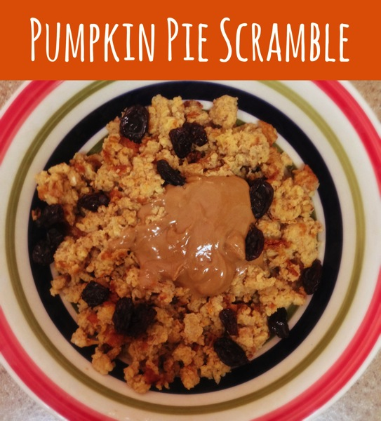 Pumpkin Pie Breakfast Scramble