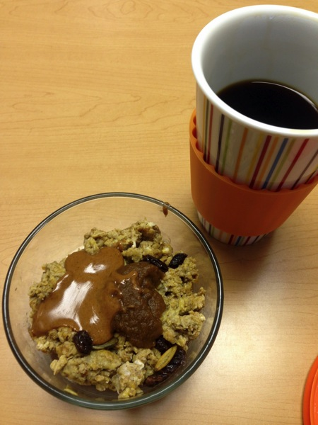 Pumpkin pie scramble + coffee
