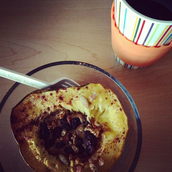 Acorn squash and sun butter