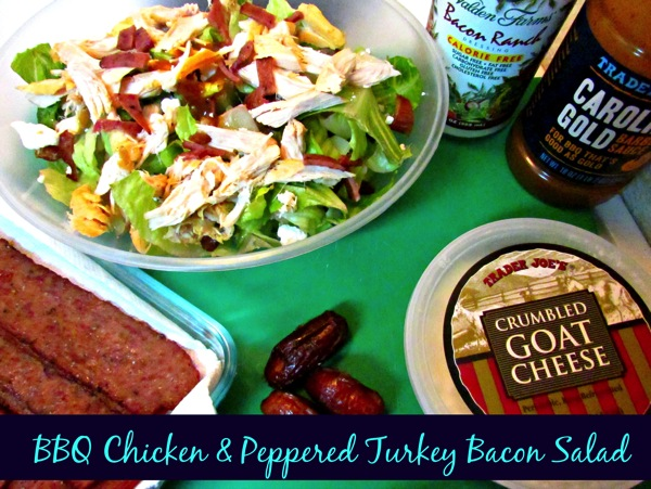 BBQ Chicken and Peppered Turkey Bacon Salad