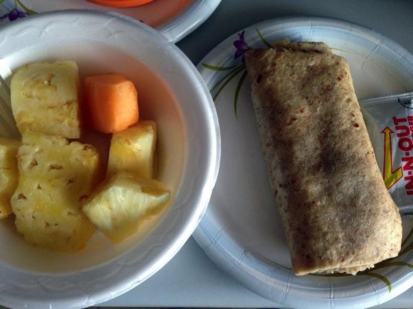 Bf burrito and fruit