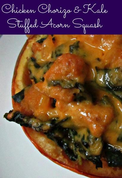 Chorizo stuffed squash