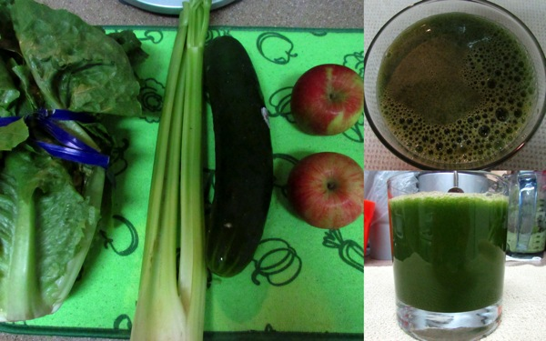 Romaine juice collage