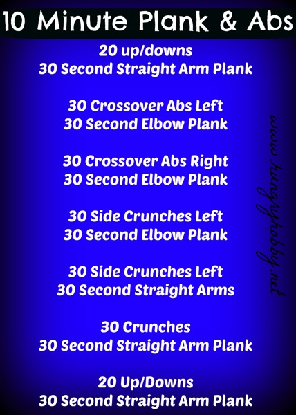 10 Minute Plank  Abs
