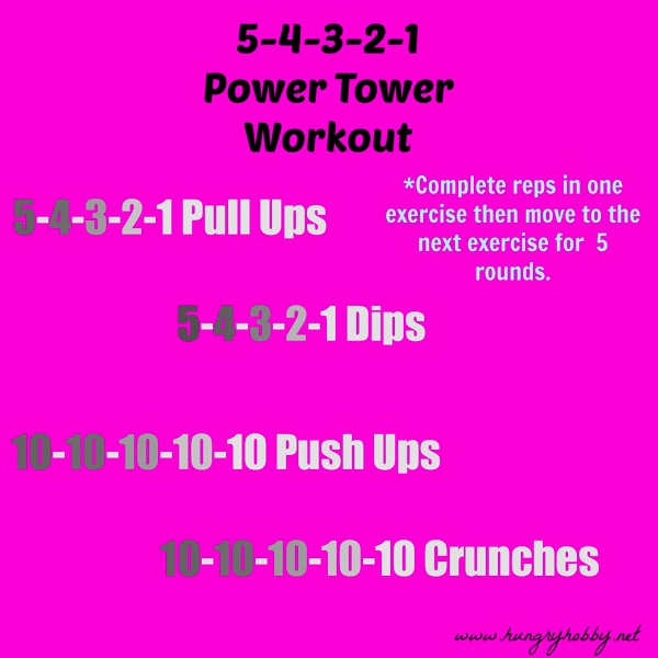 5 4 3 2 1 Power Tower Workout
