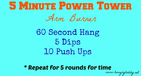 5 minute power tower arm burner
