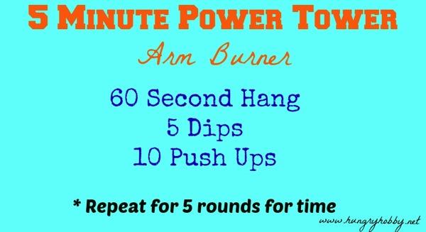 5 minute power tower arm burner