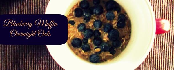 Blueberry muffin overnight oats mug