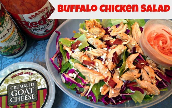 Buffalo Chicken Salad  labeled