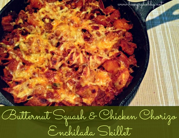 Enchilada skillet labeled