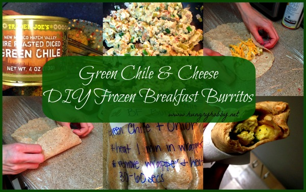 Green Chile  Cheese DIY Frozen Breakfast Burritos1