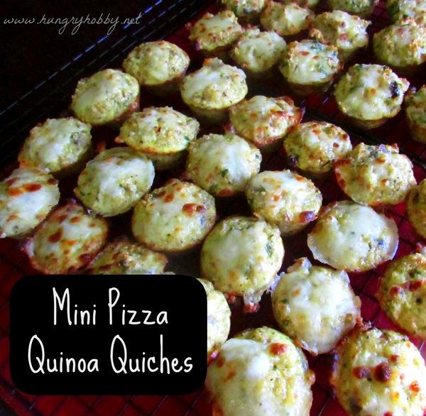 Mini Pizza Quinoa Quiches  labeled