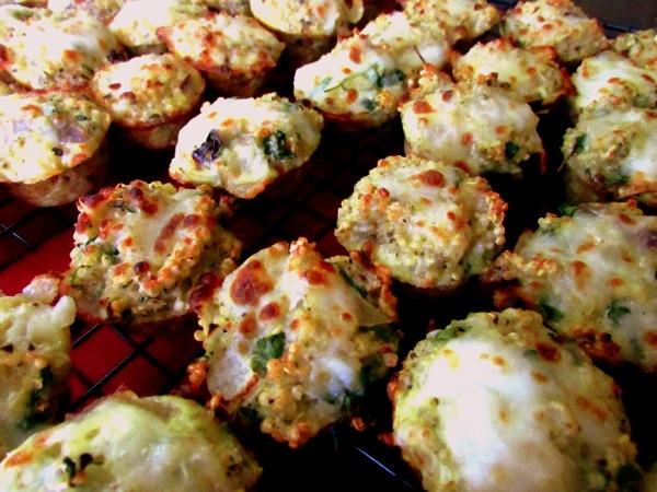Mini pizza quinoa quiches