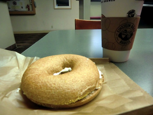 Einsteins bagel coffee