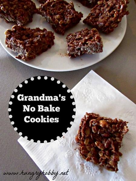 Grandma's No Bake Peanut Butter Chocolate Oatmeal Cookies - Hungry ...