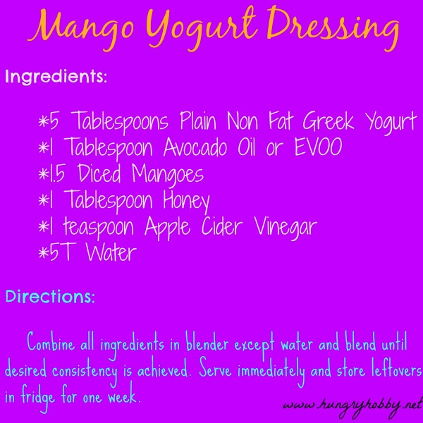 Mango Yogurt Dressing  recipe jpg